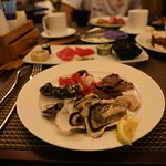 oysters with roast beef
