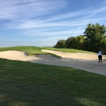 stay out of this bunker on hole 7 River Course