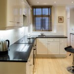 Kitchen in a three bedroom two bathroom apartment