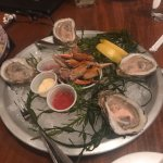 Great appetizer for $5! Oysters and crab claws
