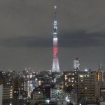 Skytree from our 12th floor room