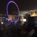 Night View of Ferris wheel from room