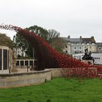 Iconic poppy wave at the memorial