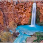 Mooney Falls in Havasu Canyon, Arizona
