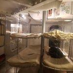 mock up of sleeping quarters