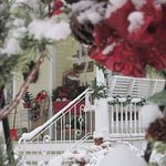 Our porch is beautiful at Winter
