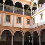inner courtyard/cloister of the Museum of Fine Arts
