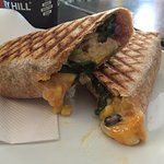 Breaky Burrito. Yummy and Cheesy and perfectly grilled. Made to order right there.