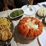 Camarão na moranga (that huge pumpkin)