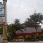 Street sign, Hitching Post Studios Inn, Santa Cruz, CA