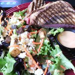 Delicious Reuben Panini with huge side salad (under $10)