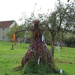 Glastonbury Abbey wishing sculpture