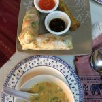 coconut soup is delicious, pad Thai excellent, curry chicken good but a little too sweet for me,
