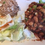 Kung Pao Chicken with Fried Rice.