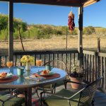 Our Casita offers a private ground level deck with pasture and foothill views.