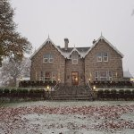 Snowy November morning at the country house hotel Muckrach