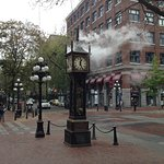Gastown Steam Clock. 5 minute walk.