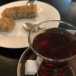 Free tea and Baklava