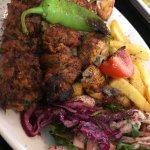 Mixed grill kebab