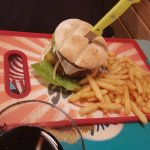 Big burger and fries