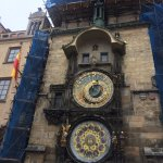 Orloj , view from dining room of Grand Praha Hotel
