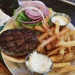 Charcoal grilled burger