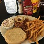 BBQ Pork and Beer battered fries