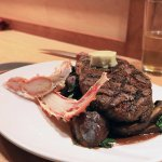 Steak and crab dish