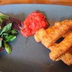 Halloumi fries with tomato chutney