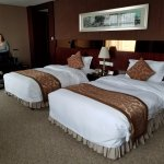 Our room - plenty large with spacious beds