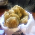 The deep fried pickles.