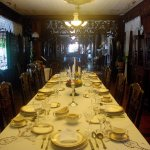 The dining table with the original cutlery. Casa Gorordo Museum