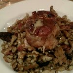 Pork Osso Buco confit w spaetzle, mushrooms