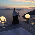 Our first bottle on Santorini
