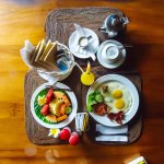 Breakfast menu.