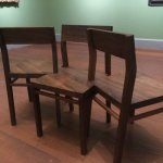 Even the gallery chairs are remarkable works of art!