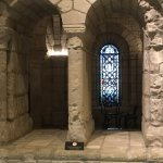 A glimpse of the vaulted gothic stone room preserved there.