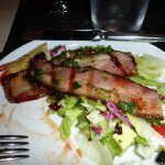 chopped salad and grilled bacon