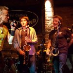 Richie Cannata and friends on stage for the weekly Monday Night Jam.
