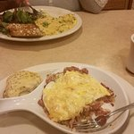 Corn Beef Hash with eggs on top
