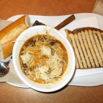 Onion soup and grilled cheese