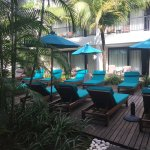 Lots of Lounge beds to relax and chill on. This is a few metres from the pool.