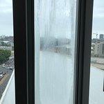 Broken window lock condensation between window panes