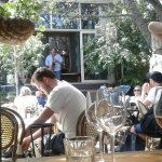 Lunch time dining in the garden with some very slick jazz. A perfect lazy lunchtime venue.