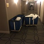 hotel carts left to just block everyone from rooms/elevator/ice machine