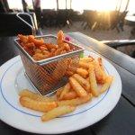 Fried Chicken in the Basket at Beach Bar Restaurant