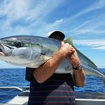 Husband Chris with a monster King Fish ( this one was released but fantastic to catch anyway)