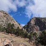 Mount Parnassus towers over Delphi