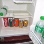 mini bar with ice cold drinks