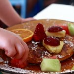 The Kids' Breakfast Pancake with Fruit.